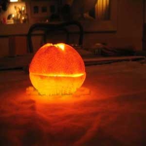 image آموزش تصویری ساخت شمع پرتغالی