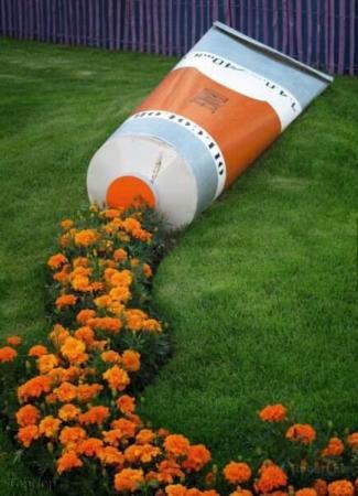 image, ایده جالب طراحی باغچه پر گل در حیاط