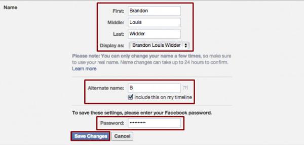 image آموزش تصویری تغییر نام و نام خانوادگی در فیس بوک