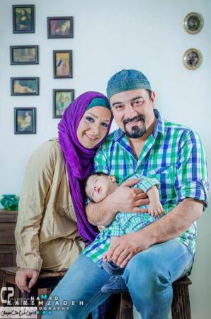 image عکس زیباو دیدنی برزو ارجمند و همسر و فرزندش