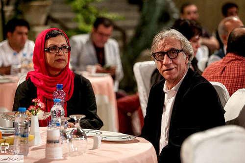 image مسعود رایگان و رویا تیموریان سر میز شام