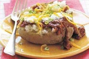 image, غذای پیک نیکی سیب زمینی کبابی شکم پر