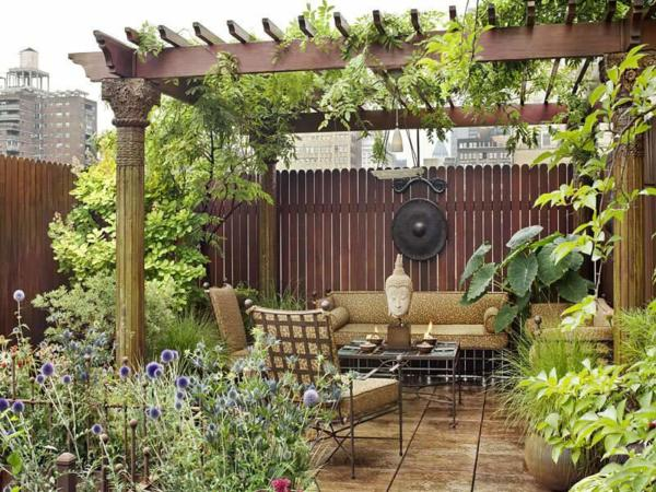 image ایده های زیبای ساخت حیاط های باغی شکل کوچک