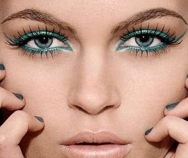 image, مدل های تصویری آرایش چشم با رنگ سبز