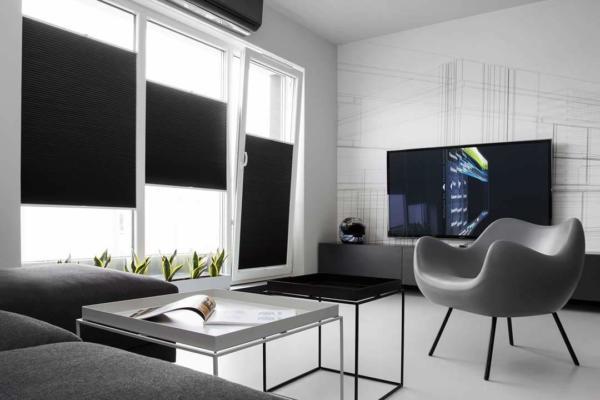 image آموزش دکور آپارتمان سبک مردانه سیاه و سفید