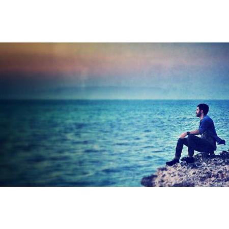 image عکس سیروان خسروی در غروب زیبای جزیره کیش
