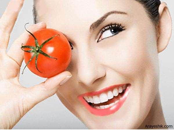 image بهترین درمان خانگی جوش صورت با گوجه فرنگی