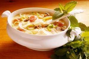 image طرز پخت سوپ رژیمی بادمجان