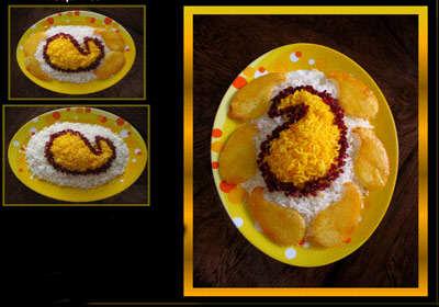 image شیک ترین تزیینات برنج برای مهمانی ها