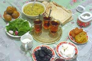 image تزیین های زیبای غذاهای سفره افطاری