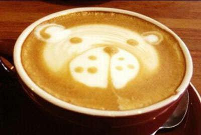 image تصویری تزیین شیر قهوه های شیک