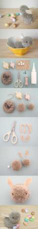 image, چطور با کاموا عروسک خرگوش درست کنیم