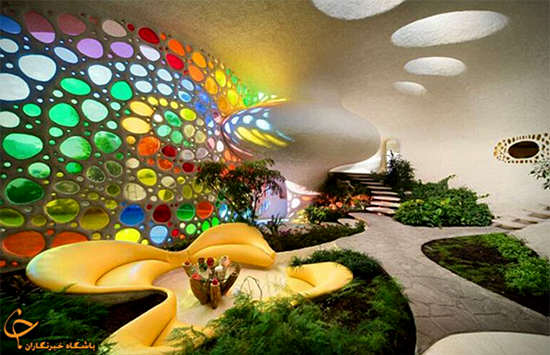 image, معماری زیبای یک خانه شکل حلزون