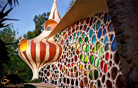 image معماری زیبای یک خانه شکل حلزون