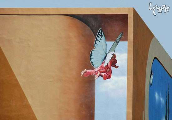 نقاشی های دیدنی بر روی دیوار خانه های تهران