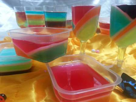 image عکس های جدید تزیین ژله های رنگی مهمانی