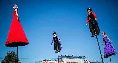 image اجرای تئاتر خیابانی در بوداپست مجارستان