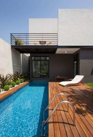 image طراحی و ساخت یک استخر کوچک و شیک در حیاط خانه