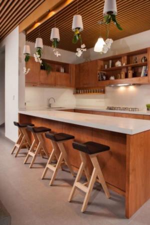 image, چیدمان شیک خانه کوچک ترکیب رنگ قهوه ای