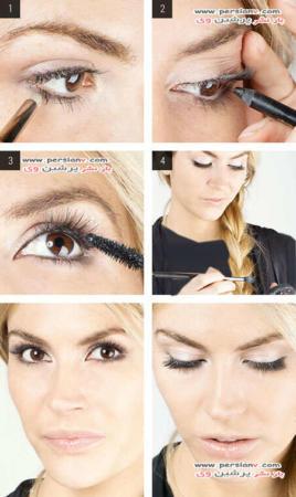 image آموزش تصویری مدل های جدید آرایش چشم
