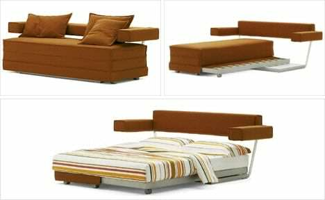 image ایده جالب ساخت کاناپه تخت خواب شو