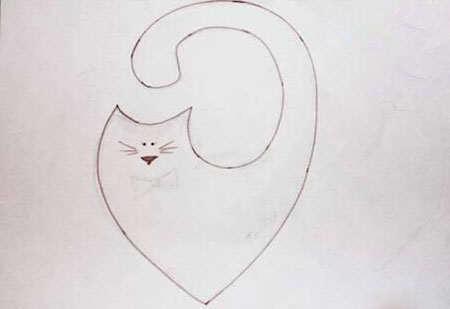 image آموزش تصویری دوخت گربه تزیینی