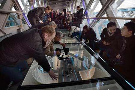 image پل شیشه ای ساخته شده بر روی رود تایمز در لندن