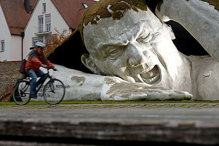 image اثر هنری مجسمه ساز مجار اولم آلمان