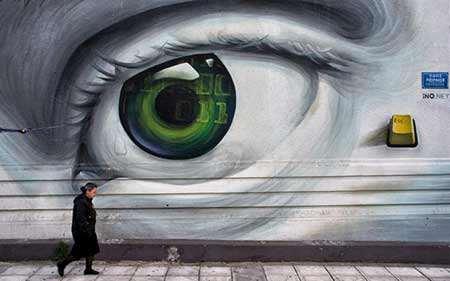 image نقاشی دیواری در شهر آتن