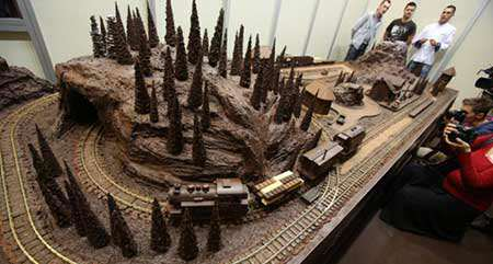 image قطار شکلاتی در فستیوال بین المللی شکلات و شیرینی