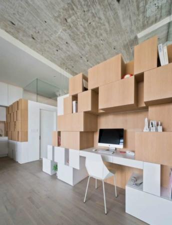 image دکوراسیون مدرن مدل جعبه ای برای آپارتمان