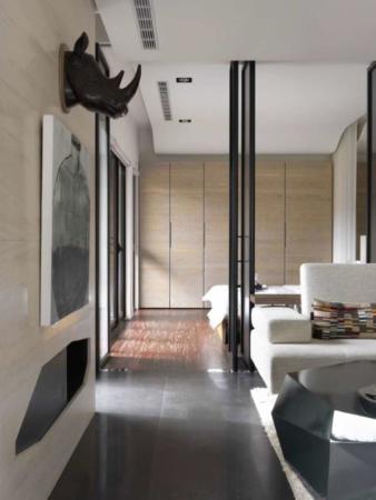 image چیدمان آپارتمان شیک و مدرن ترکیب کرمی و سفید