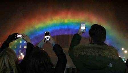image, رنگین کمان مصنوعی ۳۰ متری با طول ۱۵ متر لندن