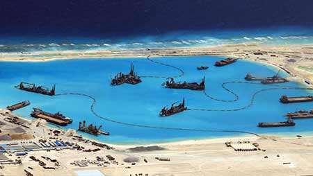 image ساخت جزیره ای مصنوعی در چین