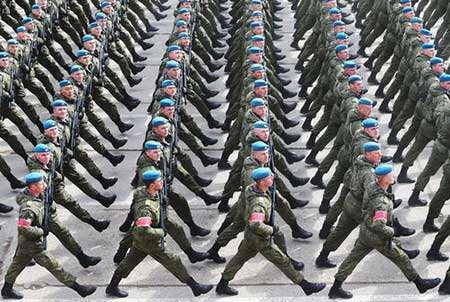 image رژه ارتش روسیه سالگرد پایان جنگ دوم جهانی مسکو