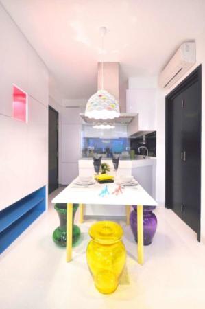 image شیک ترین شادترین دکوراسیون آپارتمان کوچک با نقشه