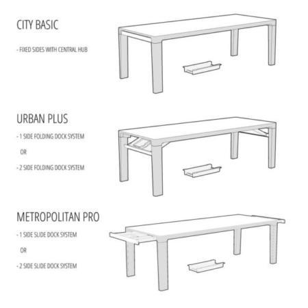 image مدل میز لپ تاپ و موبایل با جای شارژر