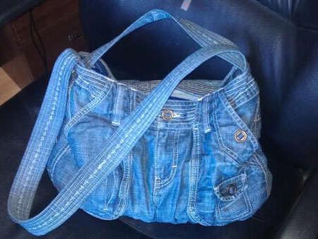 image, چطور با شلوار کهنه کیف شیک درست کنیم