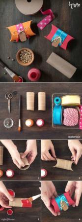 image آموزش تصویری ساخت جعبه کادو با مقوای کهنه