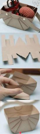 image, آموزش تصویری ساخت جعبه کادو با مقوای کهنه