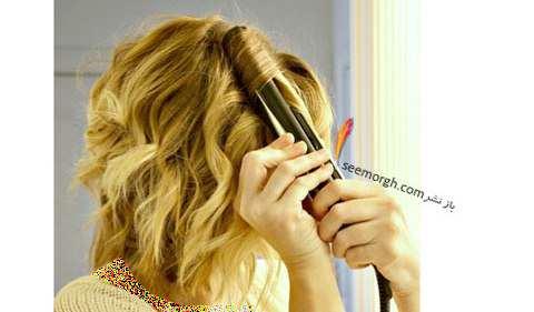 image, آموزش تصویری فر کردن موهای سر با اتو در خانه