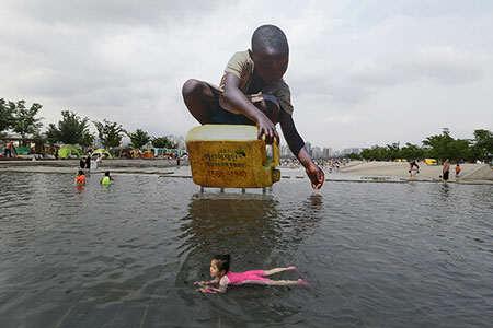 image, تصویر دیدنی هشدار کمبود آب کره جنوبی