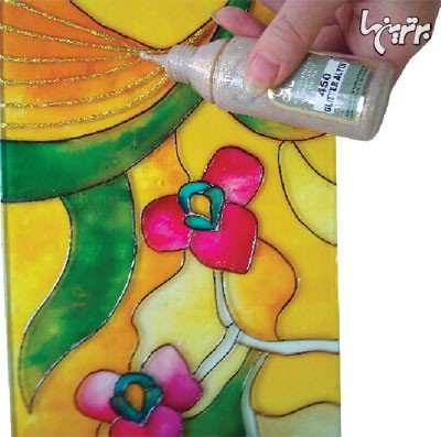 عکس, آموزش تصویری نقاشی کشیدن روی شیشه پنجره