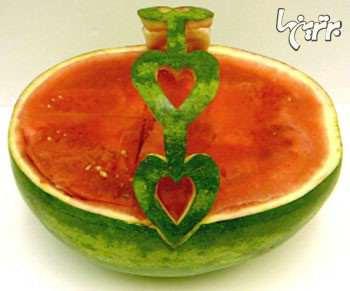 image, آموزش تصویری درست کردن سبد میوه با هندوانه