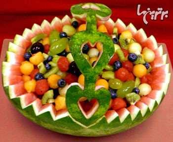 image آموزش تصویری درست کردن سبد میوه با هندوانه