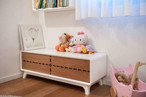 image, دکوراسیون شیک اتاق دختر بچه رنگ سفید و کرم