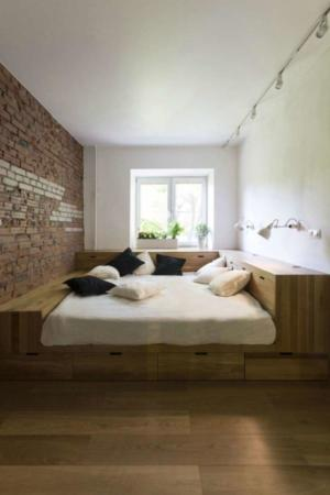 image, چیدمان شیک سالن پذیرایی و اتاق خواب سبک مدرن