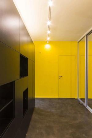 image چیدمان شیک سالن پذیرایی و اتاق خواب سبک مدرن