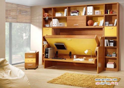 image ایده های طراحی تختخواب های دیواری شیک و مدرن