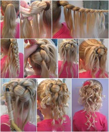 image, چطور بدون آرایشگاه موهای مجلسی ببافیم